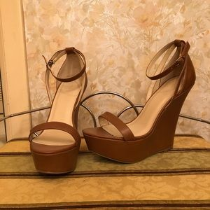 Tall Brown Wedges size 8